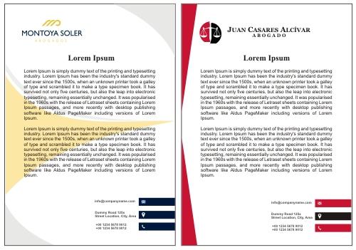 Modelos de hojas membretadas para abogados litigantes