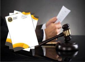 Hojas Membretadas para Abogados y Asociados