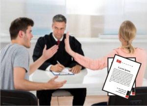 Hojas membretadas para abogados de divorcio