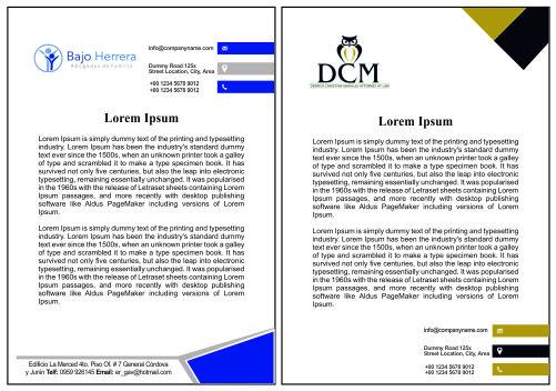Modelos de hojas para abogados de familia