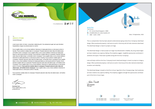 Carta Membrete para Ingeniero Constructor